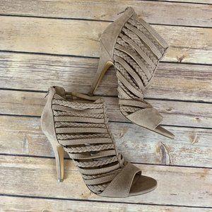 2/$25 LC Lauren Conrad 8.5 Nude Strappy Heels